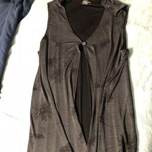 Gray Duster Vest